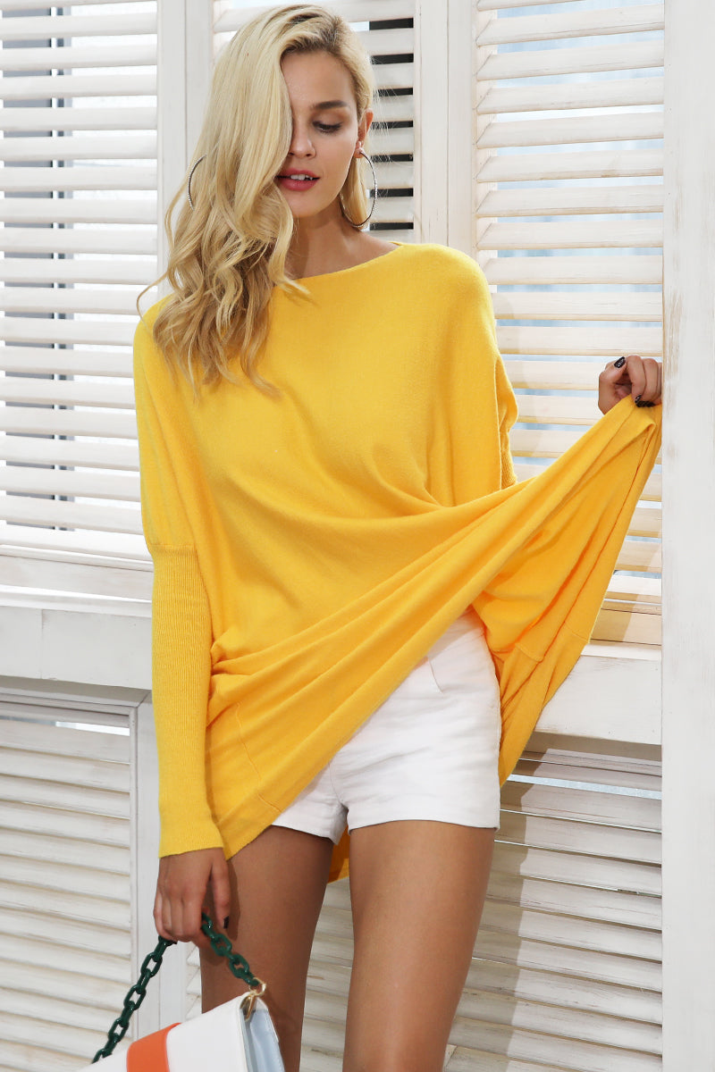 Yellow Pullover Wool Sweater