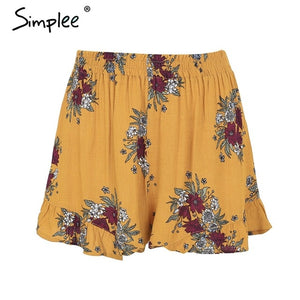 Floral Loose Pleated Shorts