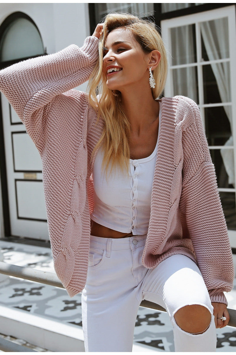 Elegant Warm Knit Cardigan
