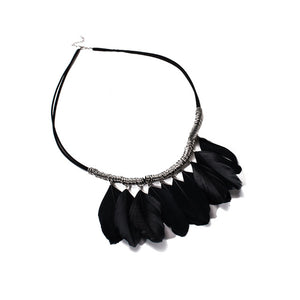 Wild Wind Tassel Peacock Feather Bohemian Long Necklace