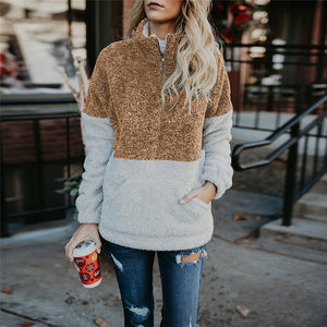 Sherpa Style Plush Pullover