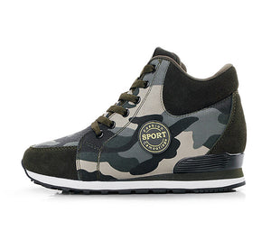 Camo Wedge Sneakers