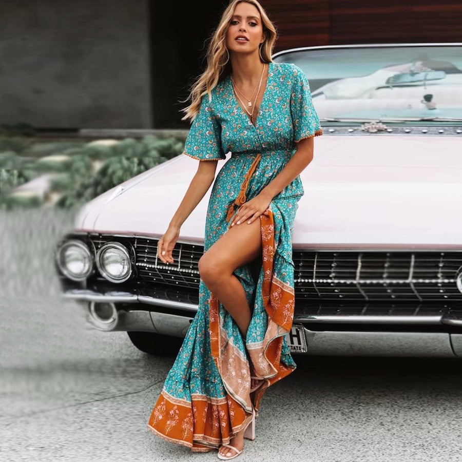 Blue Gypsy Maxi Dress