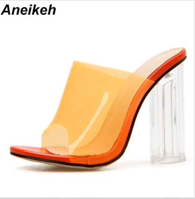 Transparent Sexy Clear High Heel Shoes