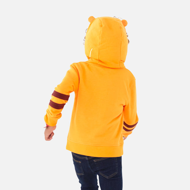 Tomo the Tiger Zip-Up Hoodie