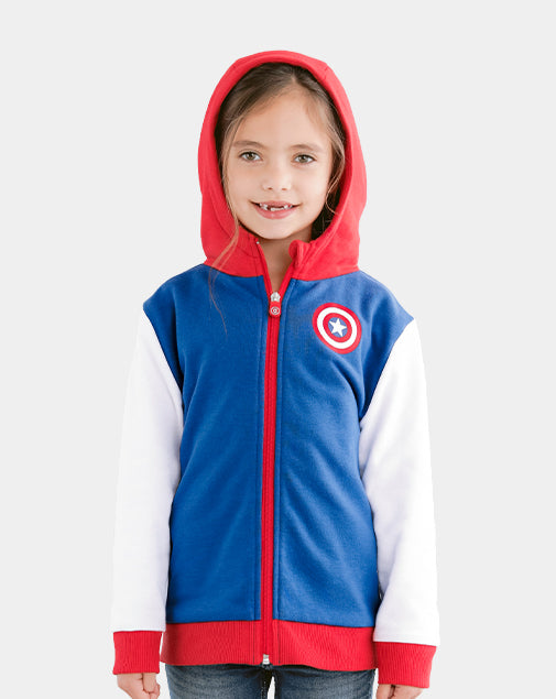 Marvel's Captain America Zip-Up Hoodie