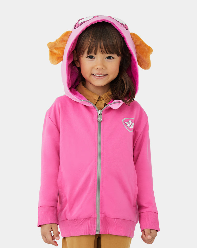 Size 4-5 New PAW PATROL HOODED JACKET WITH ZIPPER