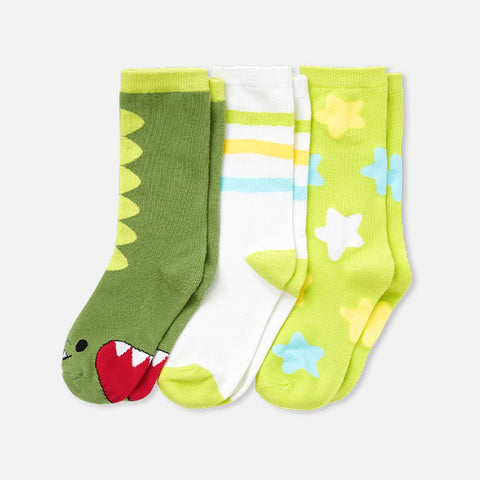 Dayo the Dinosaur Socks (3-Pack)