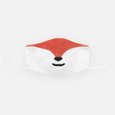 Flynn the Fox Embroidered Mask