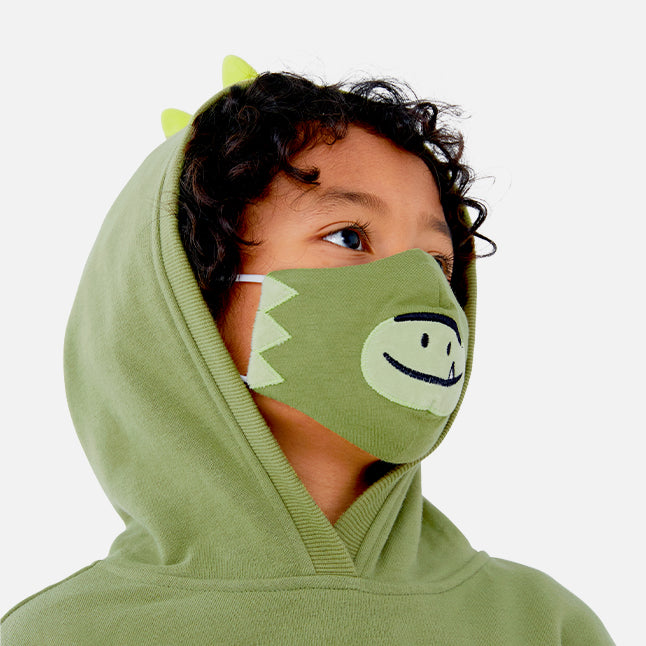 Dayo the Dinosaur Embroidered Mask