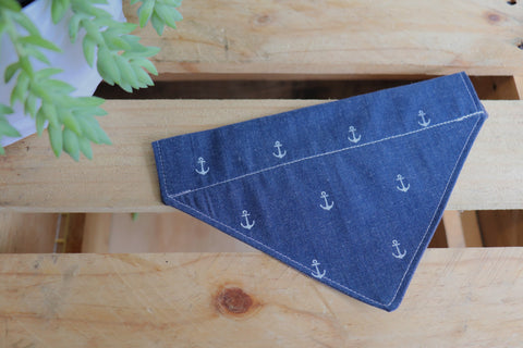 Denim Anchor Bandana