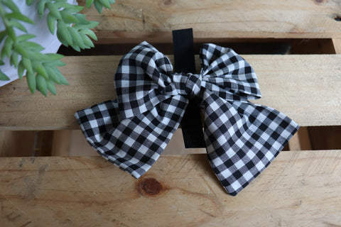 Black Check Pussycat Bow