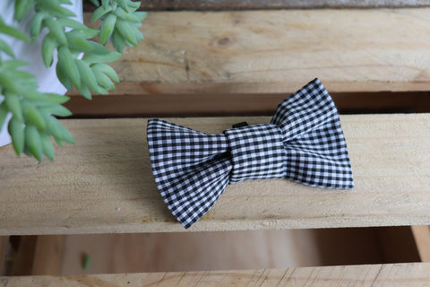 Black Check Bow Tie