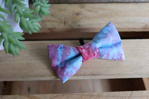 Red Tie Dye Bow Tie