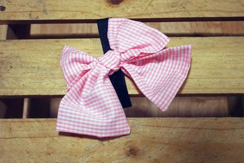 Pink Stripe Pussycat Bow