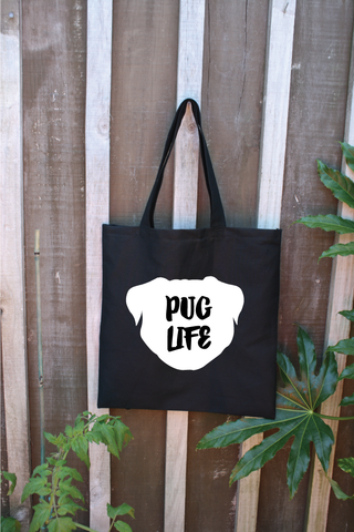 Pug Life Canvas Tote Bag