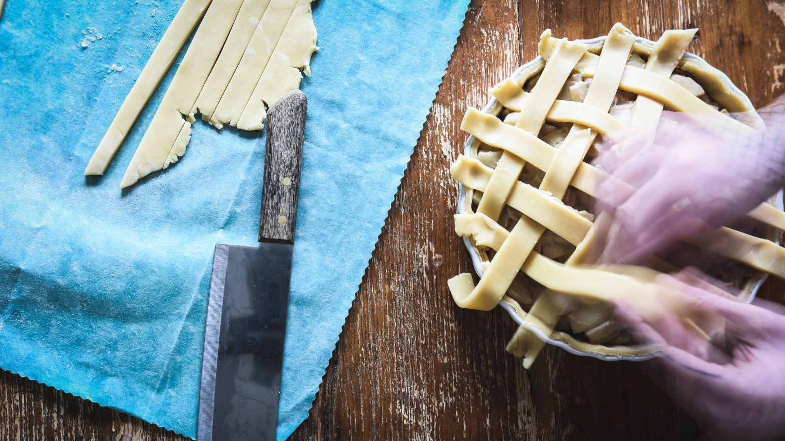 apple pie pastry making