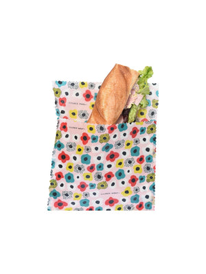 Pocket Full of Poppies - Large Sandwich Bag (Organic Cotton)