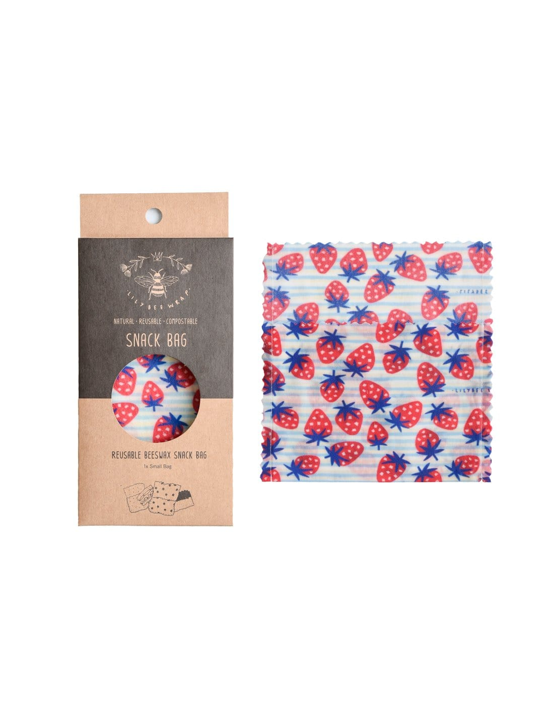 Strawberry Fields - Small Snack Bag (Organic Cotton)