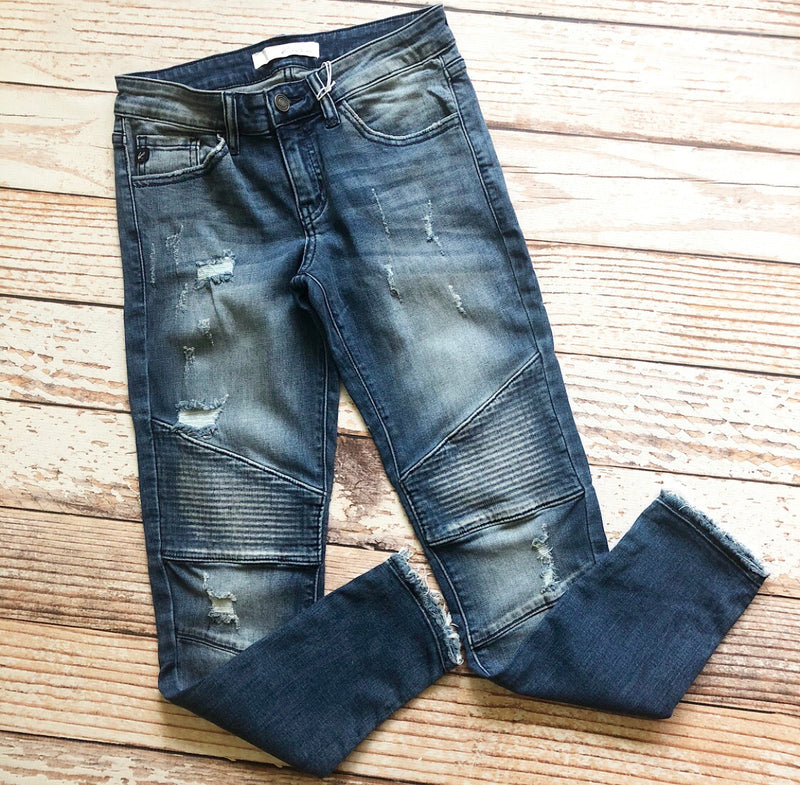 Kan Can Mandy Moto Skinny Jeans