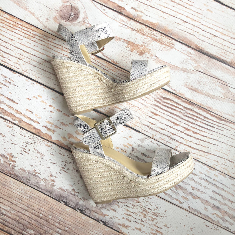 Jewel Snake Wedge Sandal