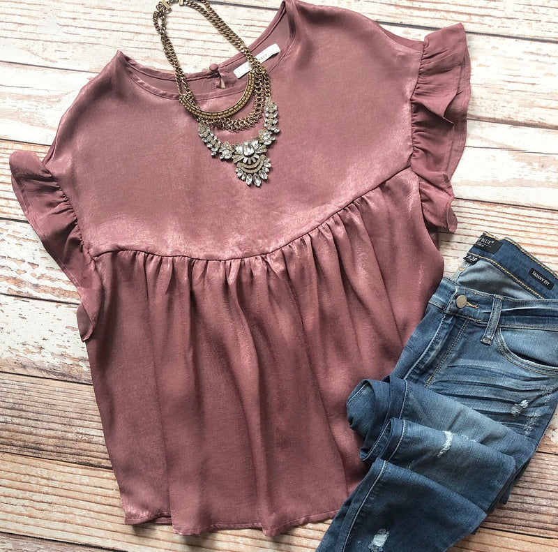 Abigail Top In Mauve