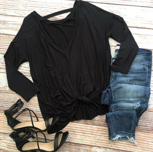 Ellie Top In Black