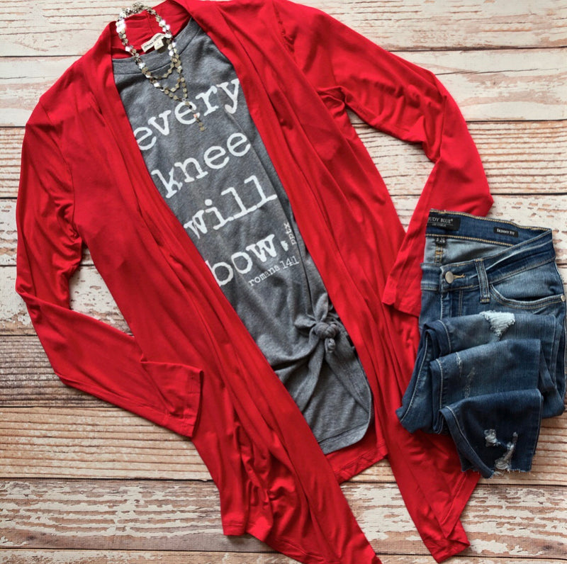 Be Mine Cardigan In Red