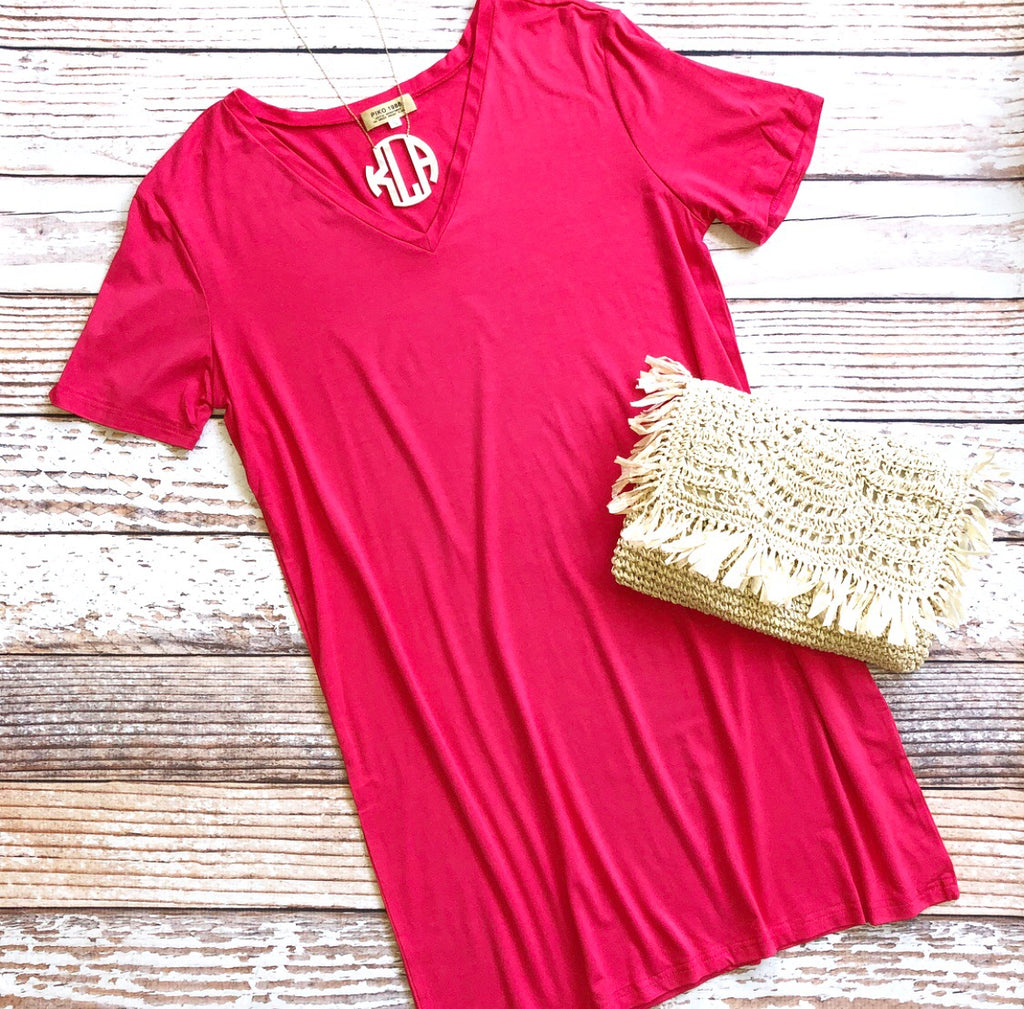 Piko Dress in Pink
