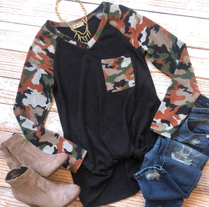 Courageous Camo Top In Rust
