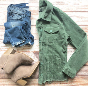Carrie Corduroy Jacket in Sage