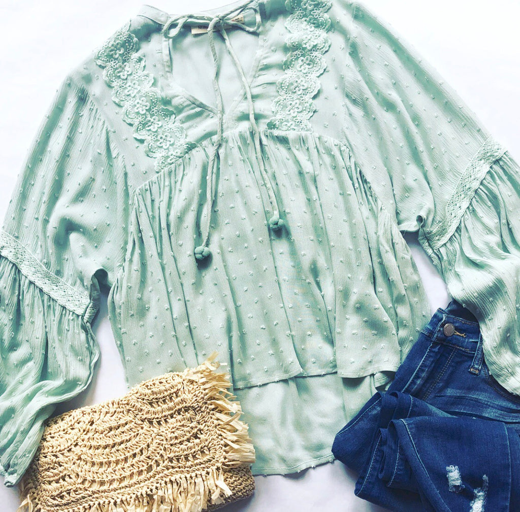 Sweet Dreams Top In Mint