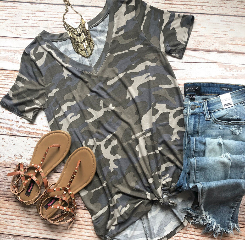 Casual In Camo Top