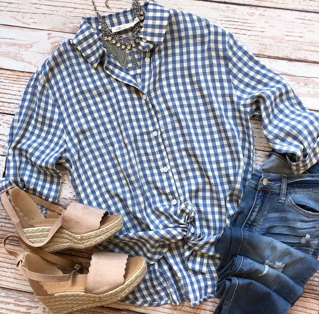 Spring Breeze Gingham Top