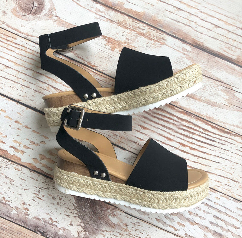 Camden Espadrille In Black
