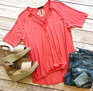 Dream Kisses Top in Coral