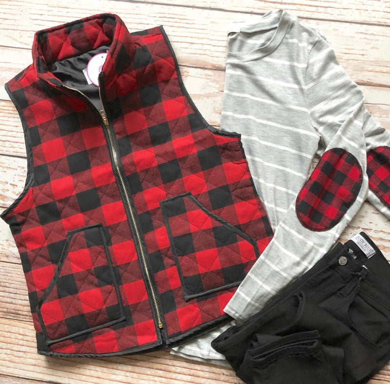 Nestle Buffalo Plaid Vest