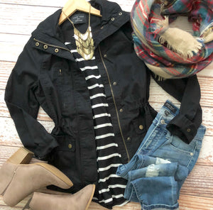 Happy Harvest Jacket in Black