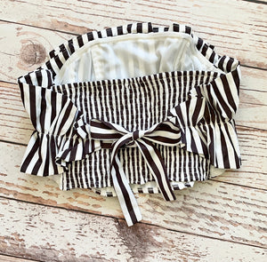 Black Striped Candy Cane Top