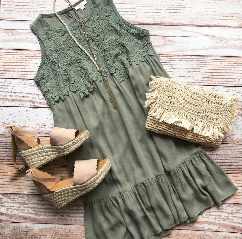 Enchanted Dress In Olive