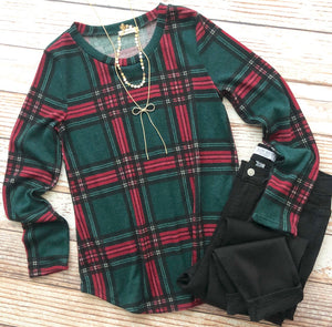 Look Of Love Plaid Top