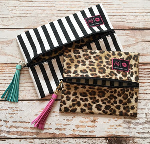 Makeup Junkie Glam Stripe Bag