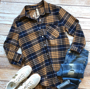 Katrina Plaid Top In Mustard