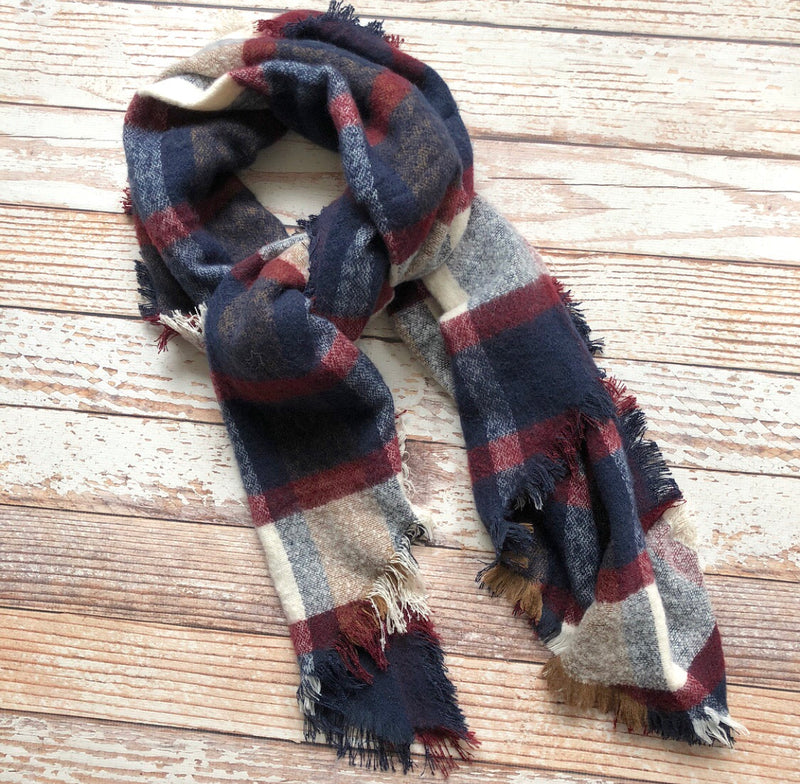 Sophia Plaid Scarf