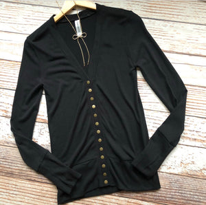 Classic Cardigan Long Sleeves In Black