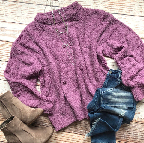 Yummy Softness Sweater In Berry