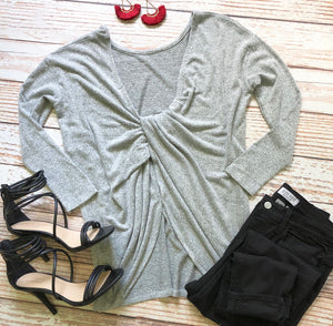 Forever Francis Top In Gray