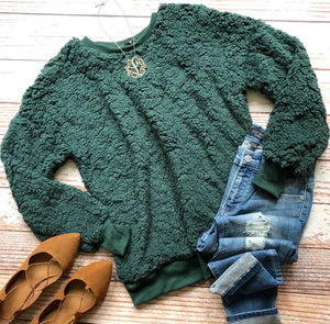 Cuddle Perfect Top in Hunter Green