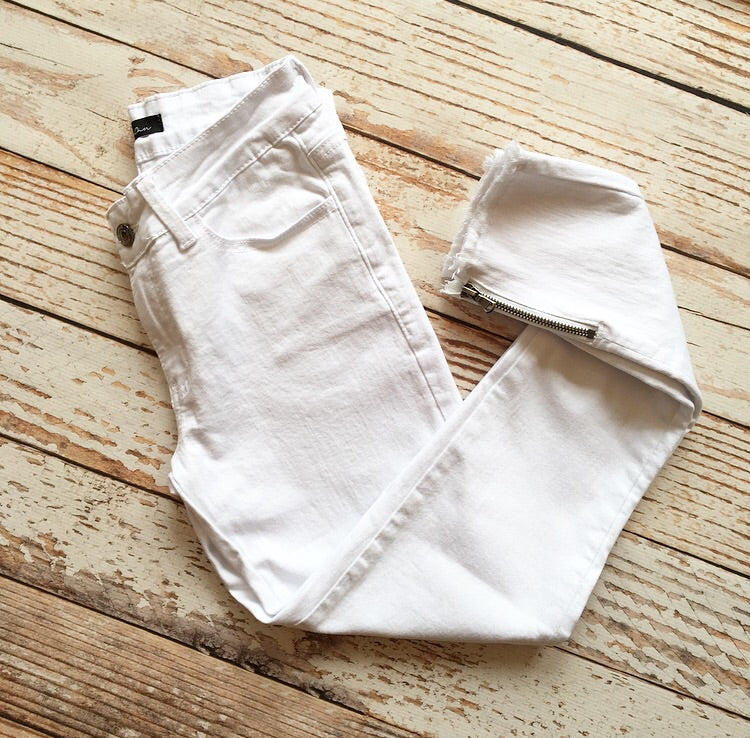 Kan Can Marion Skinny Jeans in White
