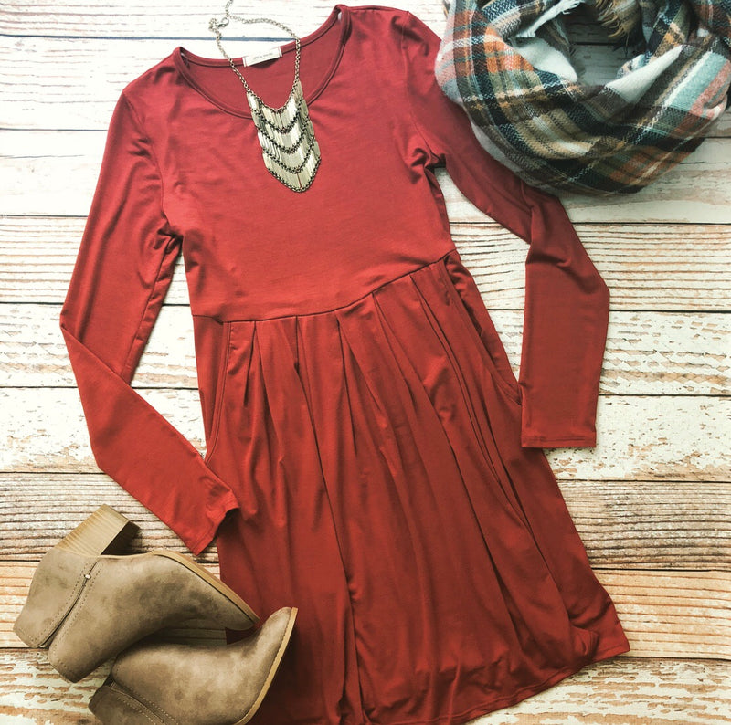 Wear Everywhere Dress in Rust